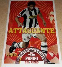 AGGIORNAMENTO FIGURINE CALCIATORI PANINI 2007/08 JUVENTUS DEL PIERO T10 ALBUM