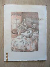 """Gravure Marc Dautry """" Céline """"   1977"""