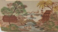 Chinese Export Porcelain GRAVY BOAT Weird! Vintage Sauce Pitcher SWANS Ship