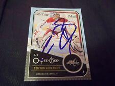 2011-12 OPC O-Pee-Chee #477 Semyon Varlamov Capitals autograph auto autographed