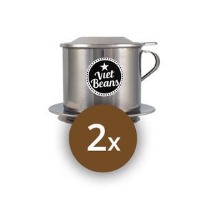 Sonderangebot! Zwei vietnamesische Kaffeefilter. Nichtrostender Stahl. Cafe Phin