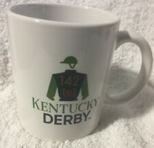 Set of Four 4 Kentucky Derby 142 Ceramic Coffee Mug Cup Churchill Downs Licensed