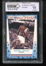 Michael Jordan 1989-90 Fleer Sticker #3 Chicago Bulls GEM Elite 10 Pristine