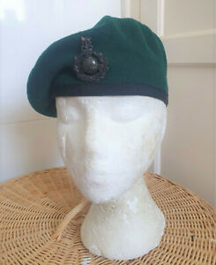 ROYAL MARINES BERET AND BADGE SIZE SMALL APPROX 55CM