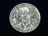 1937-D hobo nickel - carved by David HJ.He
