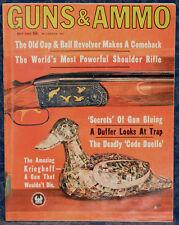 Magazine GUNS & AMMO May, 1964  Old CAP & BALL REVOLVER, KRIEGHOFF Model 32 O/U