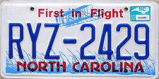 North Carolina FIRST IN FLIGHT License Plate - AVIATION AIRPLANE NC