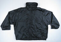 Vintage 80s Adidas Trefoil Black Satin Batwing Full Zip Windbreaker Track Jacket
