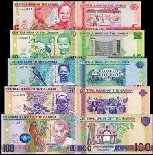 Gambia 5 + 10 + 25 + 50 + 100 Dalasis 2013 year BrandNew Set Banknotes 5 PCS