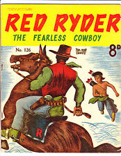 """Red Ryder No 126 1950's -Australian-"""" Little Beaver Running Cover ! """""""