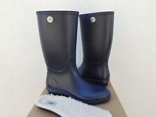 UGG NAVY TALL SHELBY MATTE RUBBER RAIN BOOTS, WOMEN US 6/ EUR 37 ~ NIB ~USA MADE