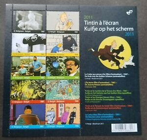 *FREE SHIP Belgium Cartoon Animation Tintin At Cinema 2011 Movie (sheetlet) MNH