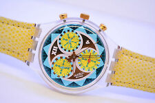 Swatch CHRONO LEMON BREEZE SCK106 Chronograph Armbanduhr Damen herren 1994 retro