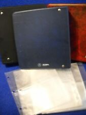 "25 plastic card pages 4-pocket (6""w x 7 3/4"" H) 1 Notebook (9""Hx8""wx2""D)"