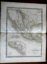 Mexico South-western United States Texas Potosi 1829 Lapie large folio map