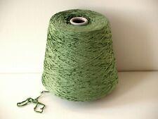 Chenille Yarn 100% Rayon In Cypress Green Crochet Weaving 1000 Ypp #Dr615