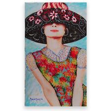MARIA MURGIA  - Audrey Hepburn -   Pezzo unico dipinto  cm 29x50 + ARCHIVIO