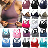 Women Yoga Running Seamless Padded Sports Bra Vest Fitness Workout Gym Tank Tops
