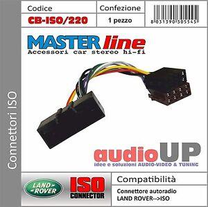Connettore ISO radio originale per LAND ROVER Freelander 2 dal 2012 in poi.