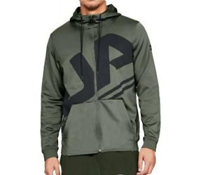 Under Armour Men's Hoodie Seeker Sports Full Zip Hoodie - Green - New