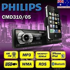 PHILIPS CMD310 AM FM MP3 USB iPod iPhone Bluetooth Car Audio Stereo Player w RDS