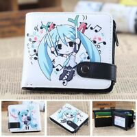 Hatsune Miku fold button purse wallet money card bags billfold anime