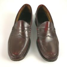 Johnston Murphy Aristocraft Burgundy Leather Loafers Shoe Men 10 C/A