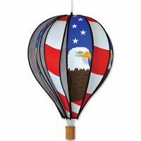 "Premier Kites Hot Air Balloon PATRIOTIC EAGLE Wind Spinner (25818 - 22"" size)"