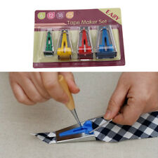 Set of 4 Fabric Bias Tape Maker Binding Tool Quilting Sewing 6mm 12mm 18mm 25mm
