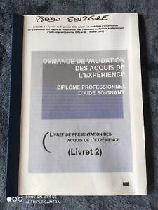 VAE LIVRET 2 AIDE SOIGNANTE DEAS+3 REVUES*ENVOI INSTANTANÈMENT APRÈS PAIEMENT