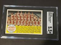 1958 Topps #428 Cincinnati Redlegs NUMERICAL SGC 5.5 Recently Graded