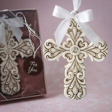 50 Baroque Cross Ornament Christening Baptism Wedding Religious Party Favors