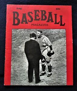 Original Aug 1938 Baseball Magazine 47 Pages