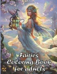 Fantasy and Fairies Adult Colouring Book Dragons Mermaids Magical Animals