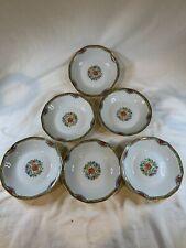 """Lot 6 Antique Theodore Haviland Limoges Lama Soup Bowl 6"""" Porcelain France a722"""
