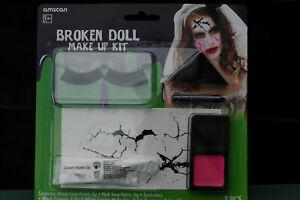 BROKEN DOLL - PARTY HORROR MAKEUP KIT Scary Female Doll Tesco