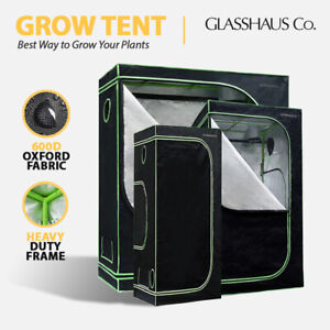 Glasshaus Grow Tent Kits Real 600D Oxford Hydroponic Indoor Grow System 11-Size
