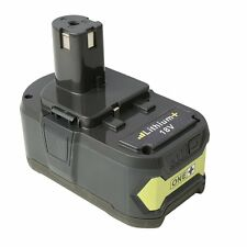 Flylinktech Replacement Ryobi one+ 18v 4.0Ah Battery for Ryobi one plus trimmer