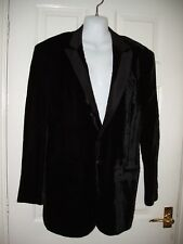 ROBERTO CAVALLI SMART LONG SLEEVE BLACK VELVET EVENING JACKET COAT LINED 50 M L