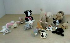 "VTG 1995 Pound Puppies/Purries/Bunnies 3"" Galoob & Hedgehog, Mouse, Cow Lot 16"