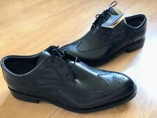 CLARKS ACTIVE AIR BLACK LEATHER BROGUES UK 11 WIDE FIT Brand New Men's