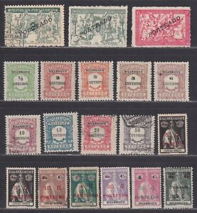 Mozambique Scott J31//J49 F/VF MH 1917-1924 Postage Dues 19 Stamps