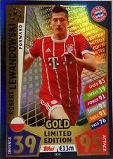 Match Attax 2018 TOPPS gold Lewandowski Limited Edition Champions League 2018xxx