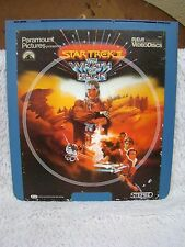 CED VideoDisc Star Trek: The Wrath of Khan (1982), Paramount Pics Pres, RCA Slct