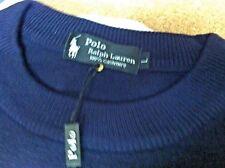POLO R, LAUREN CREWNECK SWEATER MIDNIGHT BLUE-CASHMERE- LARGE