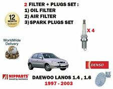 Pour Daewoo Lanos 1.4 1.6 1997-2003 Neuf Huile Filtre Air + Kit Bougies Ensemble