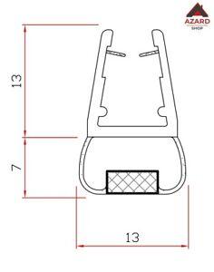Guarnizione magnetica box doccia mt. 2 pvc per vetro 6-8 mm trasparente magnete