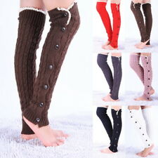 Women Winter Cable Knit Over Knee Long Boot Thigh-High Leg Warm Socks Stockings