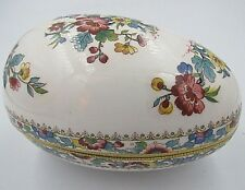 Coalport Fine Bone China Ming Rose Egg Porcelain Box Collectible