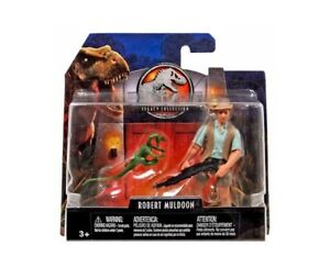 ROBERT MULDOON - w/ Compy Compsognathus Jurassic World Park Toy